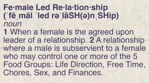 Glossary of terms about Female Led Relationships